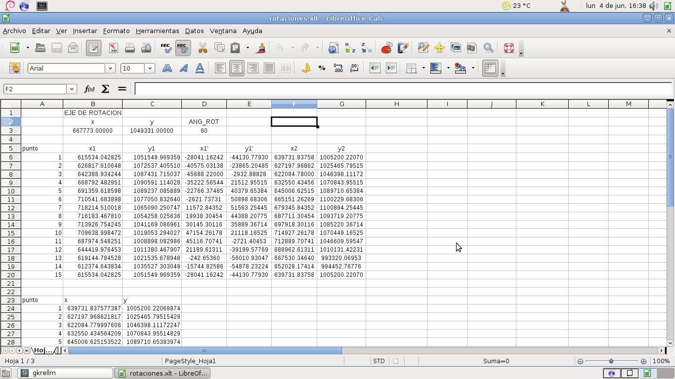 Rotación de archivos vectoriales (*.shp) en una hoja de cálculo ...