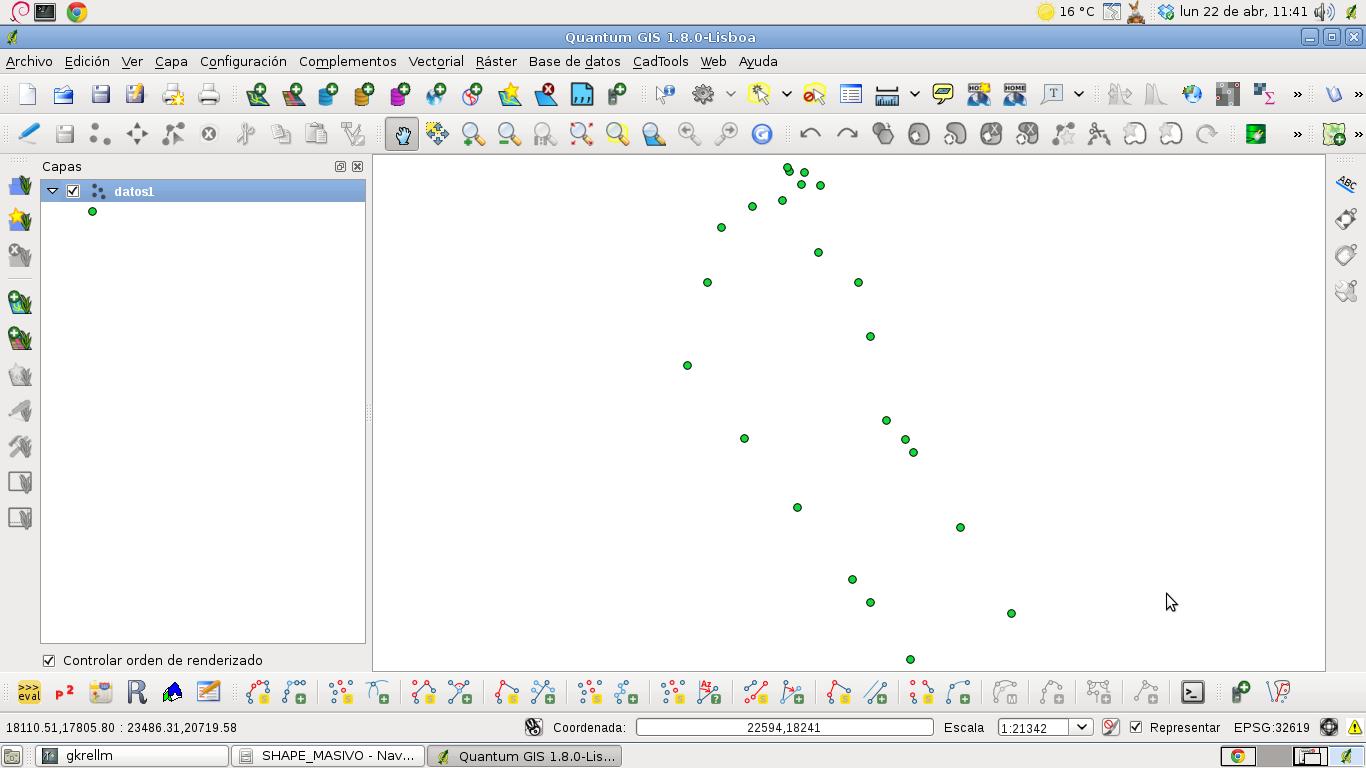 Point shapefile con librer a ogr de python a partir de un archivo de texto plano el blog de - Librerias python ...