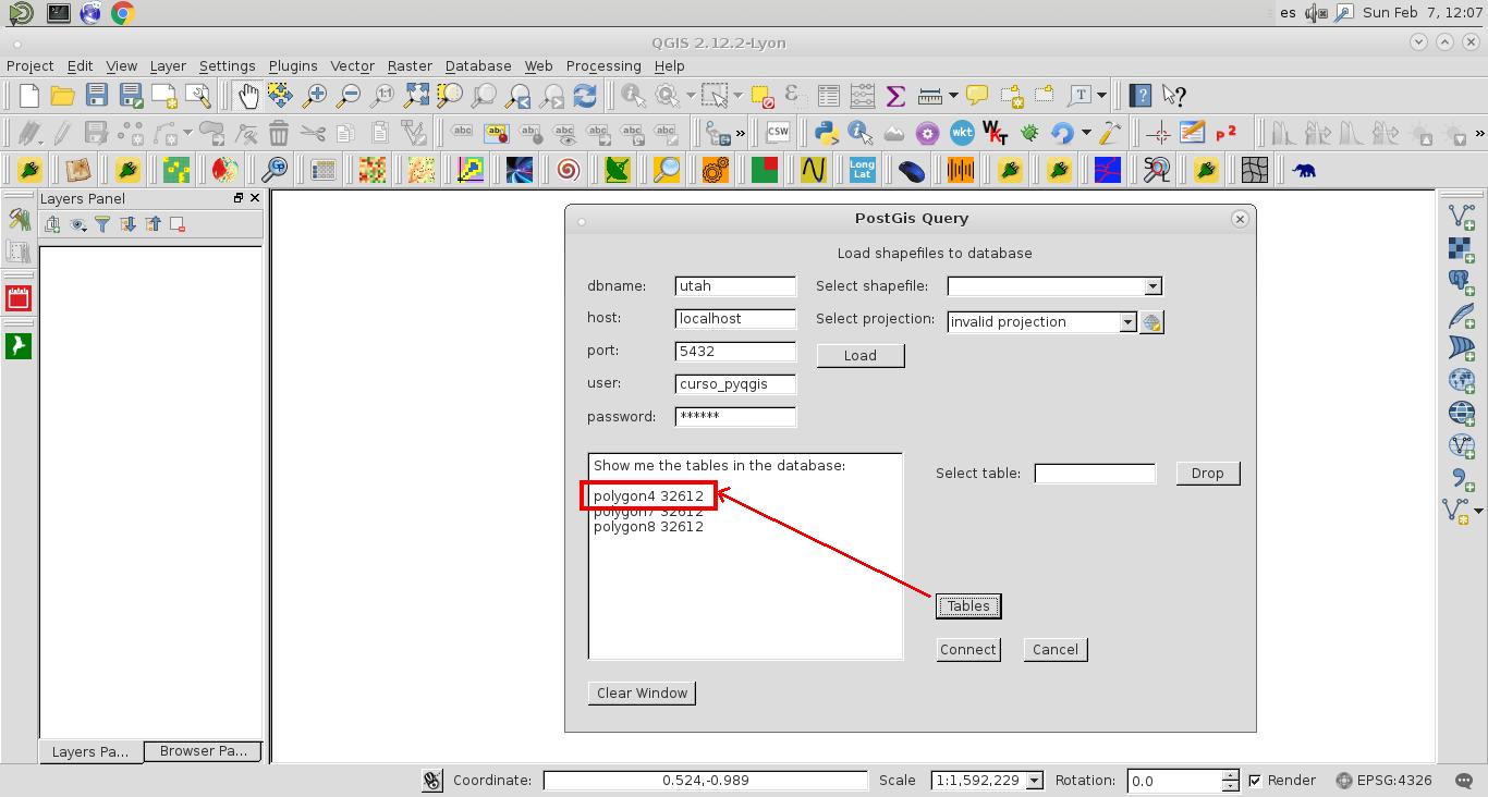 Importación en Postgis de shapefiles mediante ogr2ogr en un script